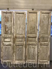 nr. set706 twee gelijke sets oude deuren