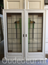 nr. e234 set glas in lood ensutie deuren