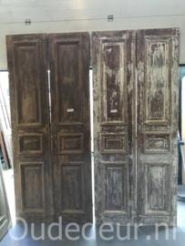 nr, set 980 10 gelijke sets antieke deuren half geloogd