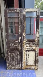 nr. set543 set antieke glasdeuren