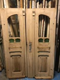 nr. set980 bijzondere antieke geloogde deuren