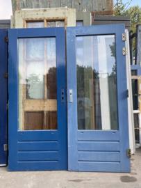 nr. A209 buitendeur dubbel glas en enkel glas, vele stuks