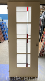 nr. GL585 glas in lood deur met melkglas