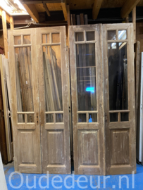 nr. set519 twee sets hoge glasdeuren geloogd