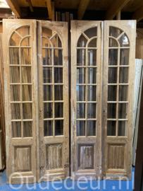 nr. set515 3 sets hoge glasdeuren kaal gemaakt