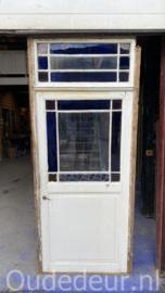 nr. 1428 bijzondere antieke deur met boven licht