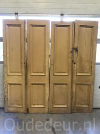 nr. set679 twee gelijke sets oude antieke deuren