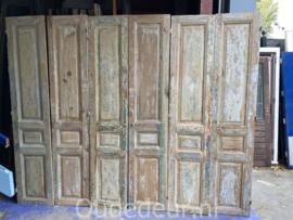 nr. set628 3 setjes antieke deuren half geloogd