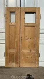 nr. set436 antieke geloogde lage deuren