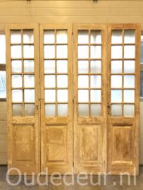 nr. set854 nog een  set antieke glas deuren