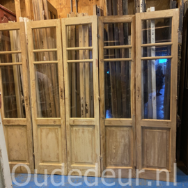 nr. set512 set  oude geloogde glasdeuren (nog 1 set)