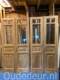 nr. set516 sets geloogde oude deuren met glas
