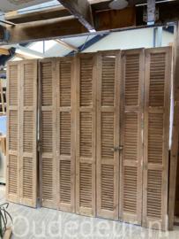 nr. L86 16x oude geloogde louvre deur