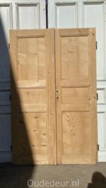nr. set446 antieke geloogde lage deuren
