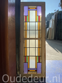 nr. GL467 oude glas in lood raam