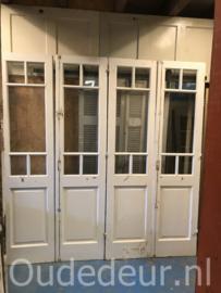 nr. set609 vijf gelijke sets glasdeuren