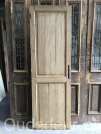 nr. 4311 oude grenen deur zonder verf, decoratief