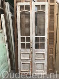 nr. set826 set antieke deuren white wash