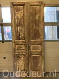 nr. set801 stel antiek geloogde deuren