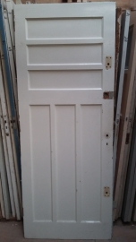 nr. 21 oude paneeldeur met zes vakken Bruynzeel