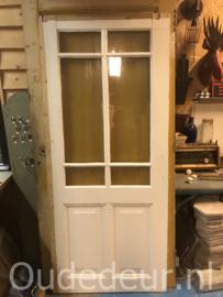 nr. 1382 antieke deur met ruitjes