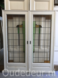 nr.  e235 set glas in lood ensuite deuren