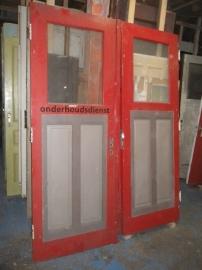nr. 217 set antieke deuren met glas