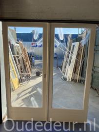 nr. E313 setje glasdeuren met geetste ruiten