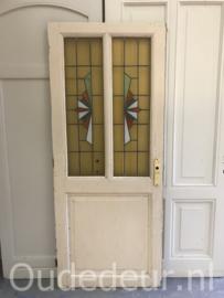 nr. GL441 antieke deur met glas in lood