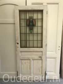nr. GL439 antieke glas in lood deur