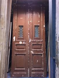 nr. set402 stel deuren met stalen rooster