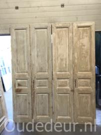 nr. set976 9 sets gelijke antieke deuren, half geloogd