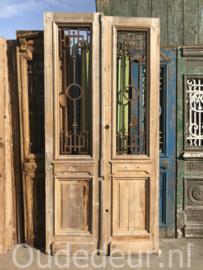 nr. set890 grote deuren met staal , kaal gemaakt