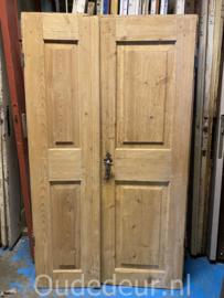 nr. set535 stel oude geloogde deuren