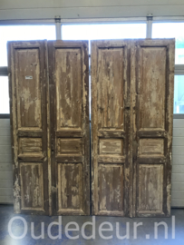 nr. set769 twee setjes oude geloogde deuren