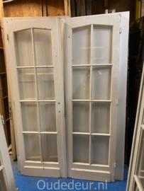 nr. set556 antieke dubbele glasdeuren