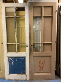nr. 2253 antieke ruitjes deur