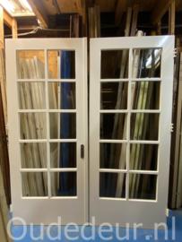 nr. set 490 set dubbele deuren met ruitjes