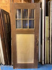nr. 1265 oude deur met ruitjes