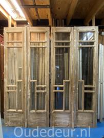 nr. set510 set geloogde oude deuren met glas (nog 1 set)