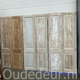 nr. set501 8 sets antieke geloogde deuren