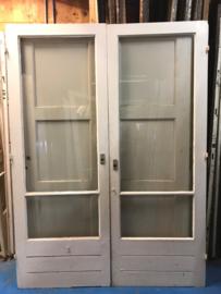 nr. A63 buitendeuren met enkel glas en ruitverdeling