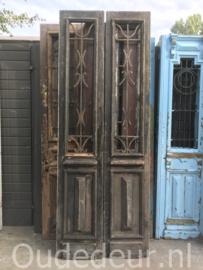 nr. set883 hoge smalle deuren met staal