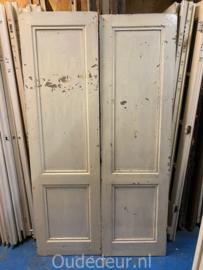 nr. 1L twee oude kastdeuren met ruwe zijde