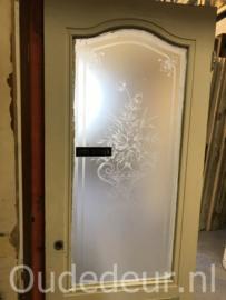 nr. GL457 deur met geetste matte ruit