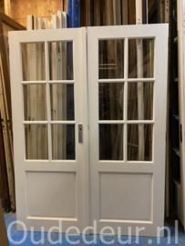 nr. set 499 dubbele glasdeuren