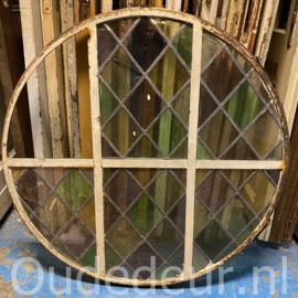 nr. R326 rond raam glas in lood