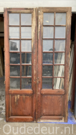 nr. set596 set deuren met geslepen glas