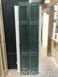 nr. L550 set van twee groene louvre deuren