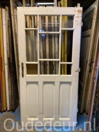 nr. 1403 antieke deur met ruitjes